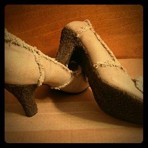 Matiko heels with brown gum bottom